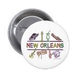 Copia de los Nuevo-Orleans-ICONOS Pin Redondo De 2 Pulgadas