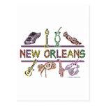 Copia de los Nuevo-Orleans-ICONOS Postal