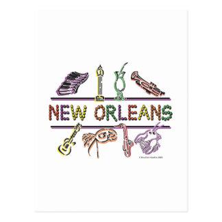 Copia de los Nuevo-Orleans-ICONOS Postales