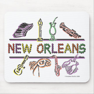 Copia de los Nuevo-Orleans-ICONOS Tapete De Raton