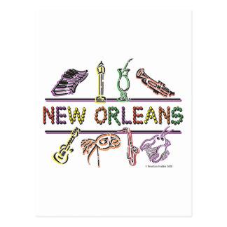 Copia de los Nuevo-Orleans-ICONOS Tarjeta Postal