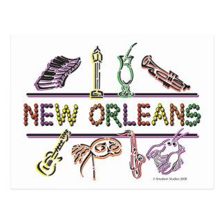 Copia de los Nuevo-Orleans-ICONOS Tarjetas Postales