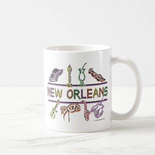 Copia de los Nuevo-Orleans-ICONOS Taza De Café