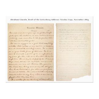 Copia de Nicolay de la dirección de Gettysburg (18 Lona Estirada Galerias