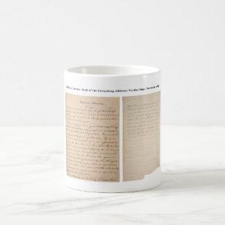 Copia de Nicolay de la dirección de Gettysburg (18 Tazas De Café
