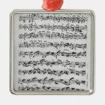 Copia de 'Partita en el menor de D para Violin Adorno Cuadrado Plateado