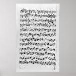 Copia de 'Partita en el menor de D para Violin Posters