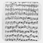Copia de 'Partita en el menor de D para Violin Pegatina Cuadrada