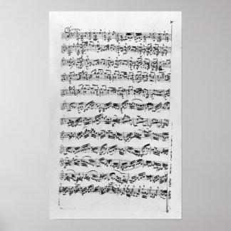 Copia de 'Partita en el menor de D para Violin Póster