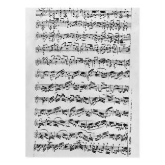 Copia de 'Partita en el menor de D para Violin Postal