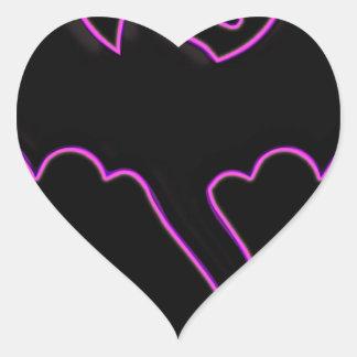 copia de pegatina en forma de corazón