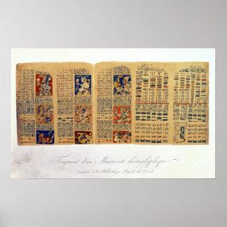 Copia de un fragmento del códice de Dresden Posters