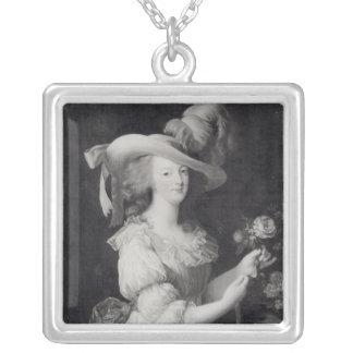 Copia de un retrato de Marie-Antonieta Colgante Cuadrado