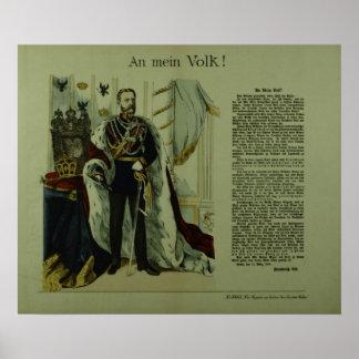 Copia de una declaración de Frederick III Póster