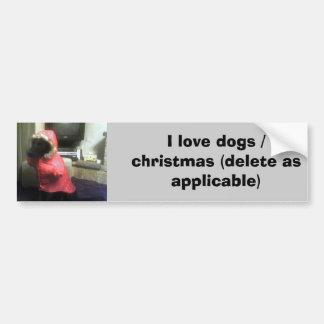 Copia de Xander Pucci 2, amo los perros/el navidad Pegatina Para Auto