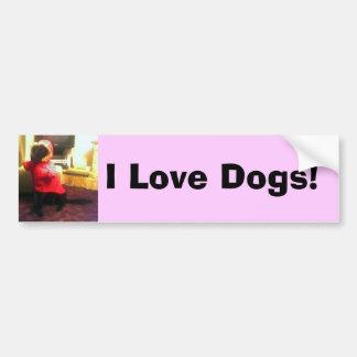 ¡Copia de Xander Pucci, amo perros! Pegatina Para Auto
