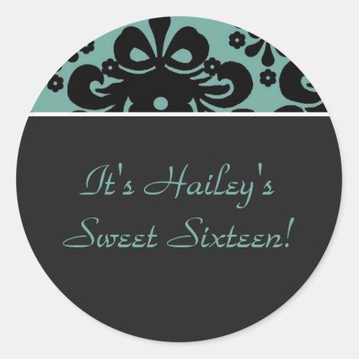 ¡copia del aquablack, es Hailey'sSweet dieciséis! Pegatinas Redondas