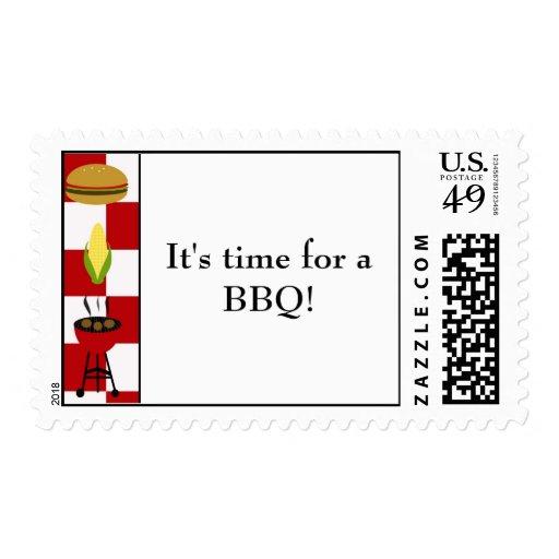 ¡copia del Bbq, es hora para un Bbq! sellos