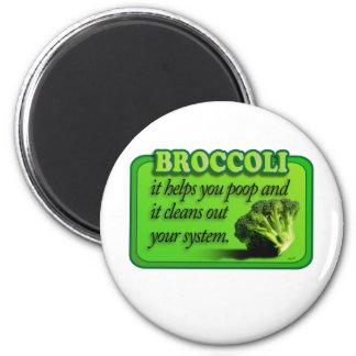 copia del bróculi imán redondo 5 cm