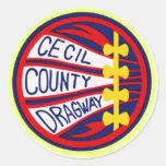 Copia del condado de Cecil Dragway Pegatina Redonda
