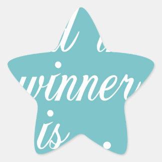 Copia del ganador pegatina en forma de estrella