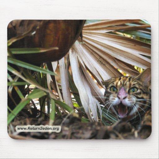 Copia del gato 006 de Bengala Alfombrillas De Ratones