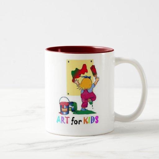 copia del niño de la pintura taza de café