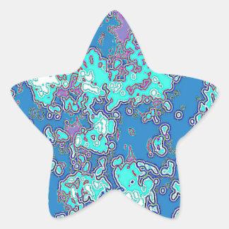 Copia del océano pegatina en forma de estrella