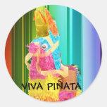 Copia del PINATA, VIVA PIÑATA Pegatina Redonda