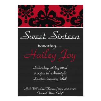 copia del redblack, dulce dieciséis, honrando invitaciones personales
