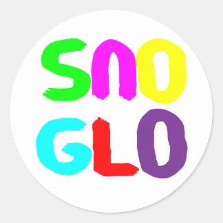 copia del sno glo1 pegatina redonda