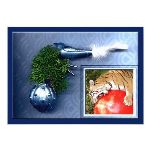 Copia del tigre Auroara-c-14 Invitación 12,7 X 17,8 Cm