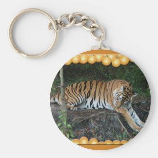 Copia del tigre Auroara-c-1 Llavero Redondo Tipo Pin