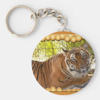 Copia del tigre Bengali-c-1 Llavero Redondo Tipo Pin