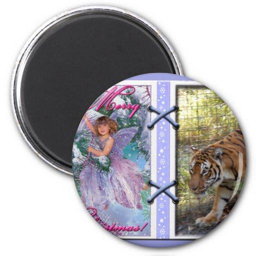 Copia del tigre Bengali-c-45 Imán Redondo 5 Cm