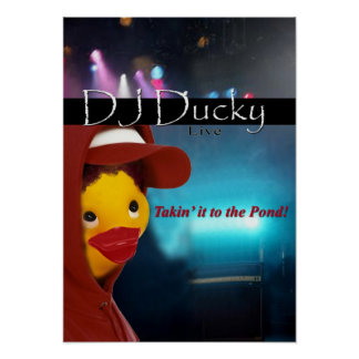 copia ducky de DJ Poster