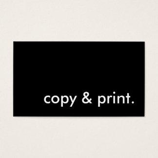 copia e impresión tarjeta de negocios