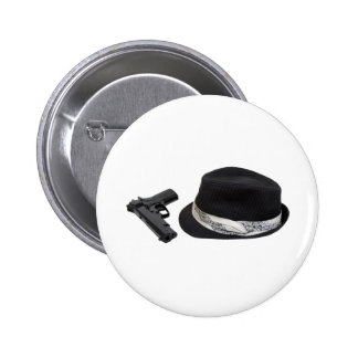 Copia FedoraAndGun080709 Pin Redondo De 2 Pulgadas