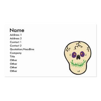 copia feliz del cráneo tarjetas de visita