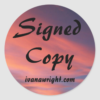 Copia firmada con los pegatinas del URL Pegatinas Redondas
