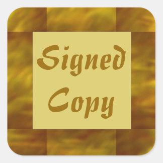 Copia firmada - pegatinas cuadrados (12) pegatina cuadrada