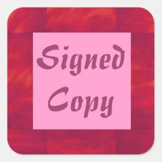 Copia firmada - pegatinas cuadrados (14) pegatina cuadrada