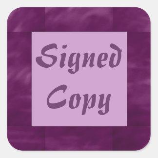 Copia firmada - pegatinas cuadrados (15) calcomania cuadradas personalizada