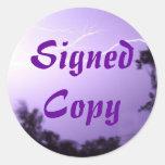 Copia firmada - pegatinas redondos (28) pegatinas redondas