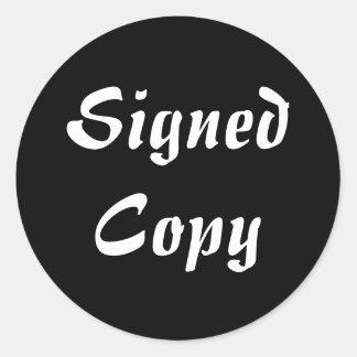 Copia firmada - pegatinas redondos (51) pegatina redonda
