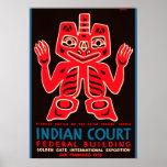 Copia india 1939 del anuncio de la corte de la poster