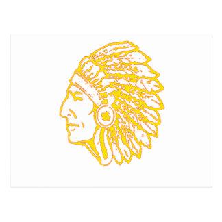 Copia india amarilla postales