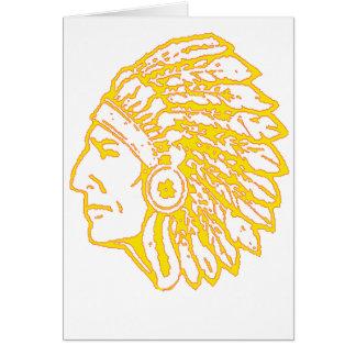 Copia india amarilla tarjeta de felicitación