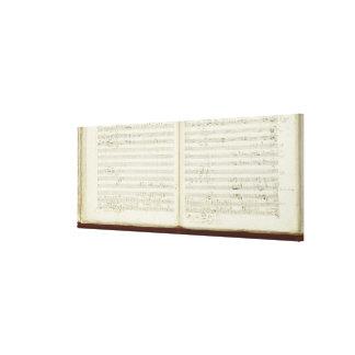 Copia manuscrita 'del Flute mágico Lienzo Envuelto Para Galerias