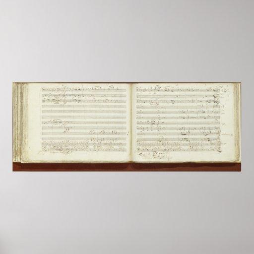 Copia manuscrita 'del Flute mágico Póster